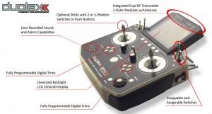 Duplex transmitters